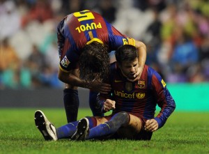 Carles Puyol and Gerard Piqué