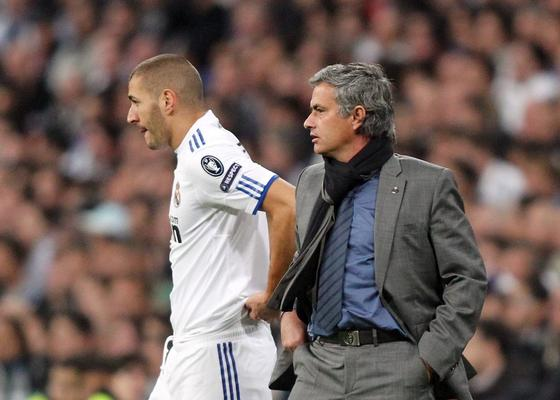 Image result for benzema and mourinho picture