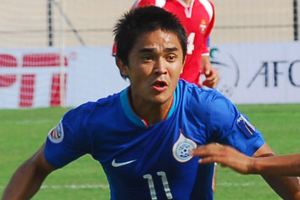 India Captain Sunil Chettri- On the verge of making history.