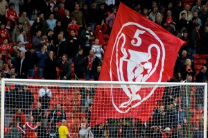 Liverpool Banner Supporters