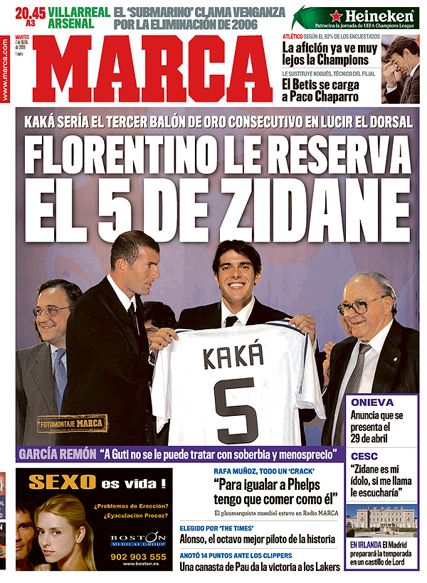 Real Madrid Musings: Kaka - From The White Knight' To The White ...