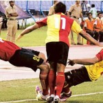 East Bengal - Breating on Dempo's neck