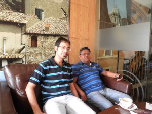 AIFF General Secretary Mr. Kushal Das with THT's Resident Author Rahul Bhutani