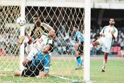 Jules Alberto Scoring India's goal. Baichung seemed to have got the final touch but goal was deservedly awarded to Jules