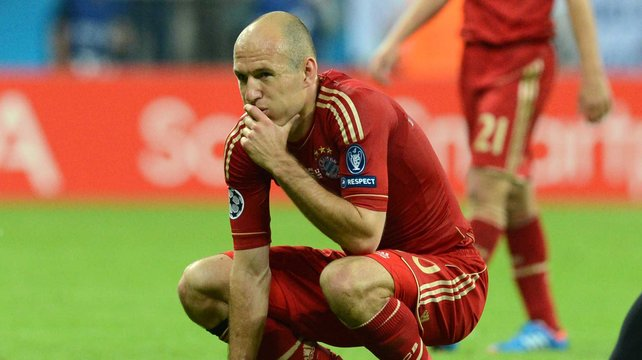 Arjen Robben missed a penalty for Bayern Munich against Chelsea