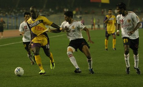 Action from EB-Salgaocar Federation Cup Final