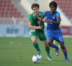 Alwyn George in Action in AFC U-22 Qualifiers