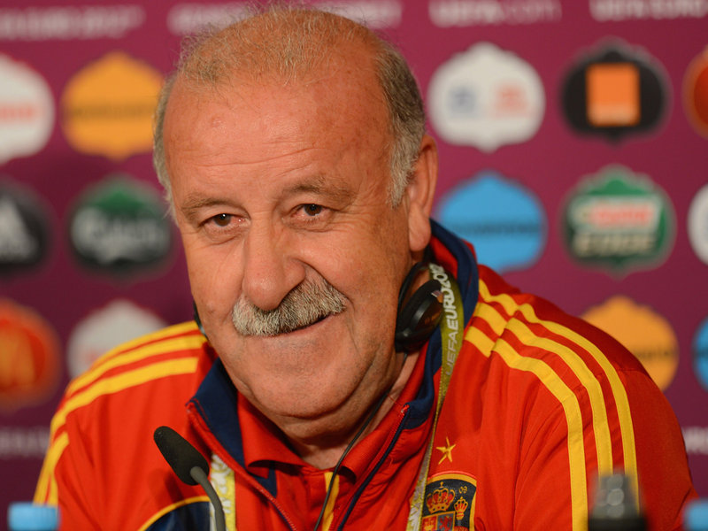 Vicente Del Bosque of Spain at Euro 2012