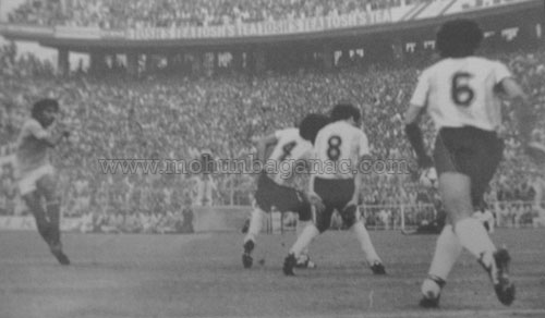 Prasanta Banerjee against Argentina during 1984 Nehru Cup
