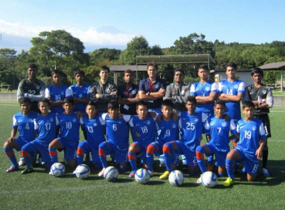 The India U-14 Team Which Participated in SAARC U-14 Football Event
