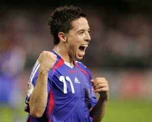 Nasri playing for France