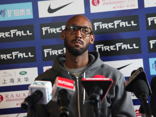 Anelka will miss the match with a knee injury
