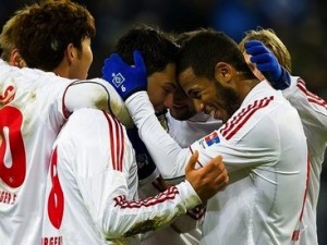 Hamburg defeated Bremen 3-2 in the Nordderby on Sunday