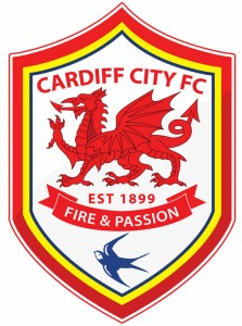 Cardiff City's new logo with the red dragon figuring prominently