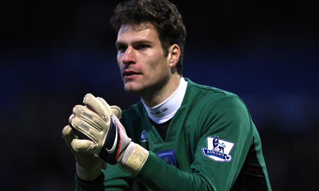 Asmir Begovic - Stoke City goalkeeper | Real Madrid monitoring Stoke City goalkeeper Asmir Begovic