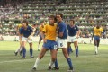 Zico of Brazil and Claudio Gentile of Italy