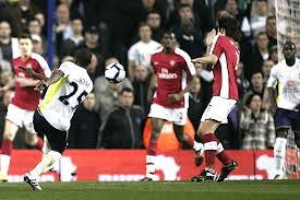 Tottenham Hotspur youngster Danny Rose scores against Arsenal in North London Derby