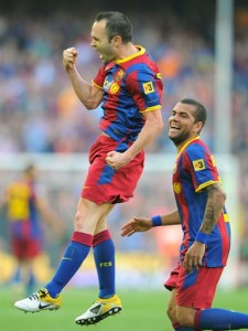 Who will have the last laugh: Alves or Iniesta?