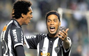 Jo and Ronaldinho - With Bernard, the three are Atletico Mineiro's goal haulers