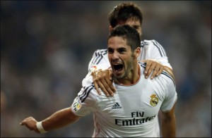 Isco celebrates the 86th minute winner