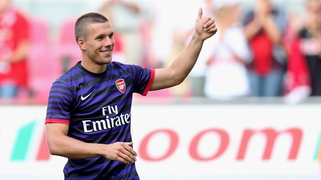 Lukas Podolski - Starting spot in doubt at Arsenal?