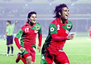 The Bangladesh football team hoping for an upset against India in SAFF 2013