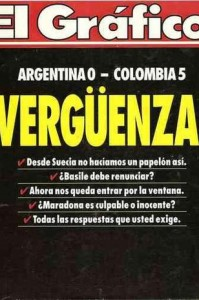 el-grafico-cover World Cup Qualifier Argentina Colombia