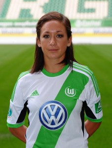 Nadine Kessler - Image courtesy of Wolfsburg Women's Team