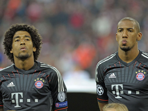 Rock Solid: Bayern defenders Dante and Jerome Boateng