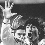 Ivan Zamorano reacts after Madrid beat Barcelona 5-0