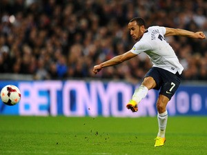 Tottenham Hotspurs's England winger Andros Townsend in action