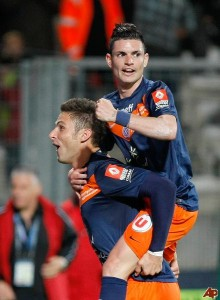 Giroud and Cabella formed an effective partnership for Montpellier to help the club clinch its only  league title