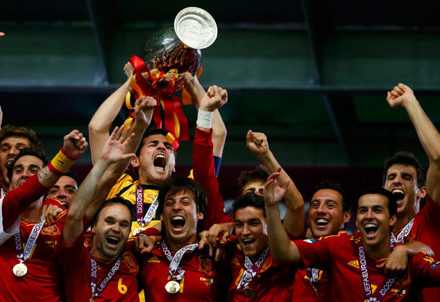 Spain national team | Euro 2012 trophy | Spain: Is Wealth of Talent a Selection Headache Coach Del Bosque?