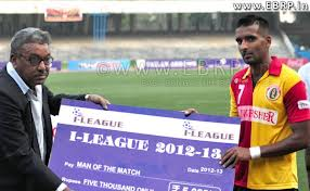 East Bengal vice captain Harmanjot Khabra with a MOTM award in I-League