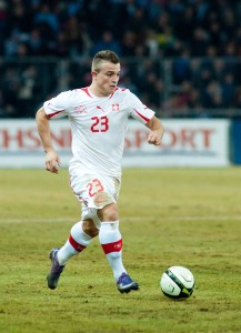 Shaqiri was Switzerland's most effective player offensively.