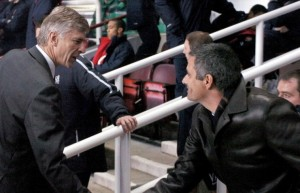 Mourinho got the better of Wenger in the Frenchman`s 1000th game in charge of Arsenal.