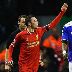 Iago Aspas scored his first goal for the Reds against Oldham