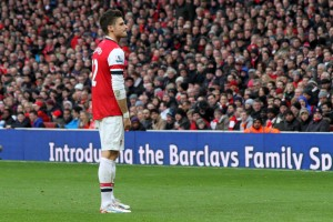 Giroud will hope Boruc makes another mistake like the one he capitalised on in the reverse fixture