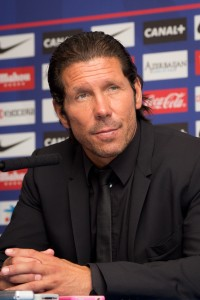 Simeone will watch the derby from the stands as the manager serves suspension.