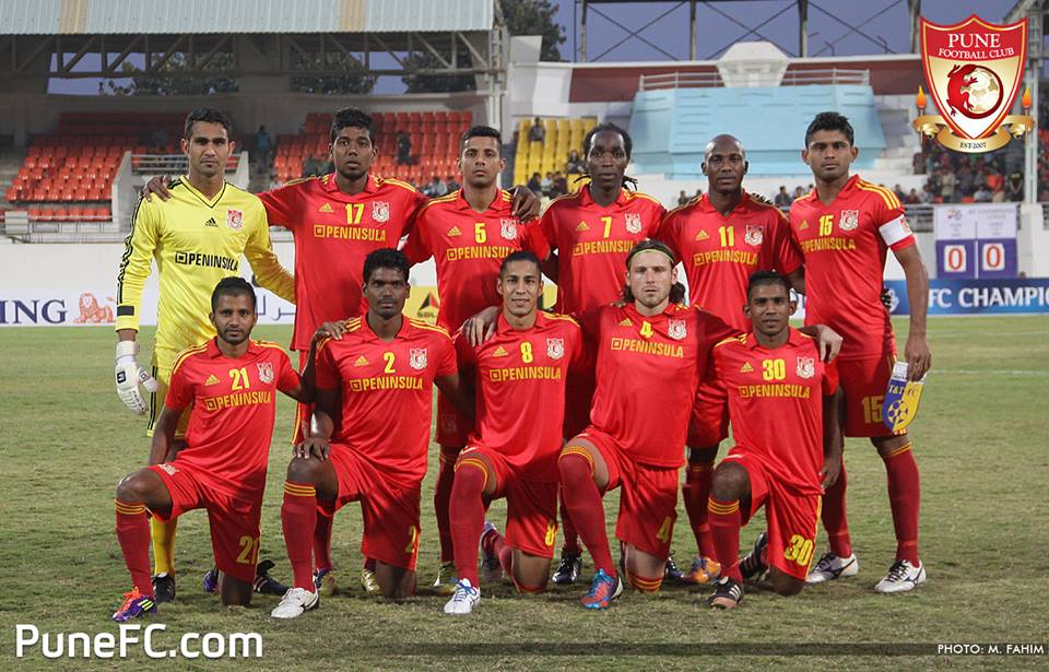 Pune FC Starting XI against Hanoi T&T.