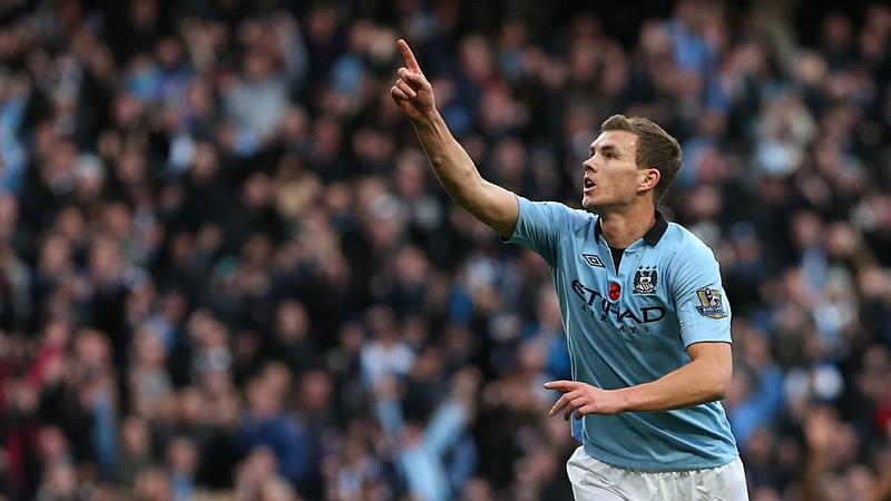 Edin Dzeko will be a key performer for City