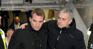 Brendan Rodgers (left, Liverpool FC manager) and Jose Mourinho (right, Chelsea FC manager)   Liverpool FC vs Chelsea FC - Team News, Tactics, Lineups And Prediction