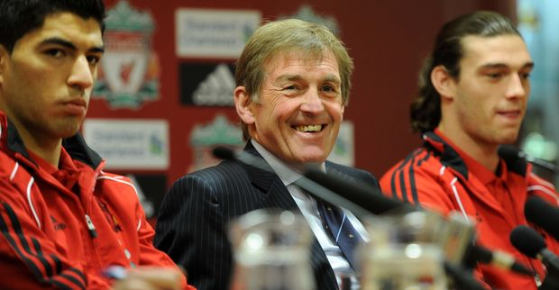 Luis Suarez (Liverpool FC striker), Kenny Dalglish (Former Liverpool player/manager), Andy Carroll   Liverpool FC - Some Perspective On Failed Title Challenge