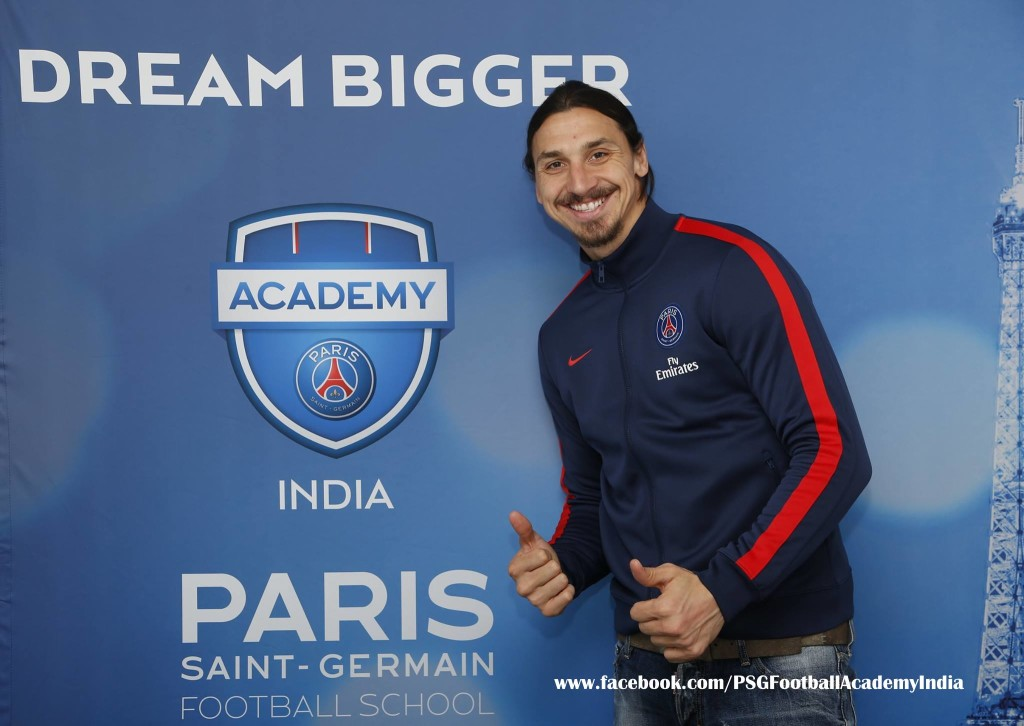 Ligue 1 Champions PSG's Zlatan Ibrahimovic and Thiago Silva can attract the Indian Football fans to PSG Football Academy in India.