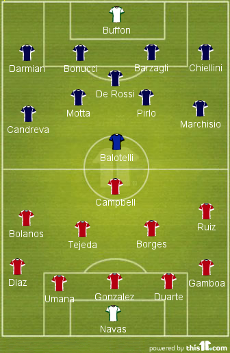 Italy - Costa Rica this 11