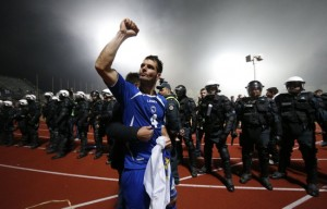 Bosnia's Emir Spahic celebrates World Cup qualification after victory  against Lithuania