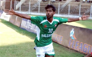Francis celebrating for his I-league club