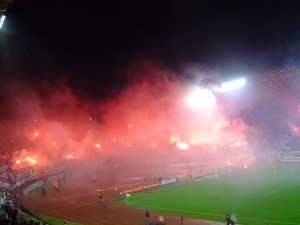 The Torcida showcasing their passion
