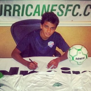 A young Shinde, signing his contract