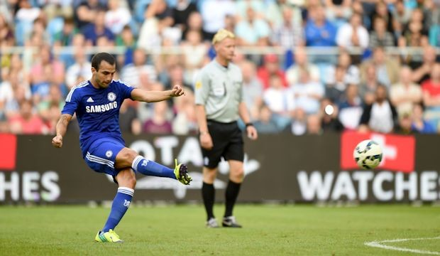Fabregas dispatched a fantastic freekick to score his first Chelsea goal v Vitesse. (Courtesy: chelseafc.com)